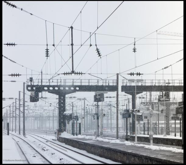 Station sous la neige, 12 mars 2013