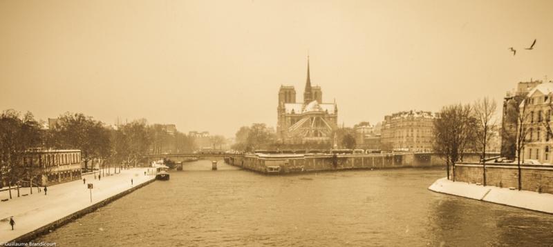 Notre Dame, depuis l'Ile Saint Louis, 20 janvier 2013
