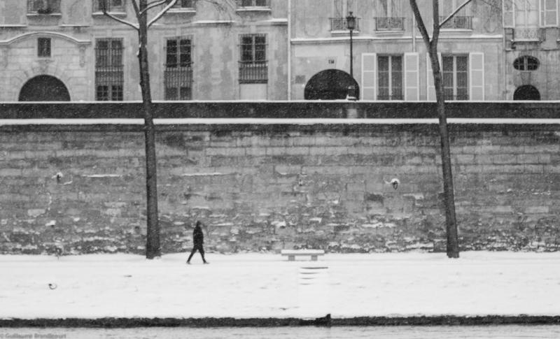 Walker, Quai de Seine, Pont Marie, 20 janvier 2013