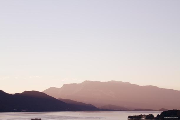 Couchant sur le Lac du Bourget, 31 juillet 2013