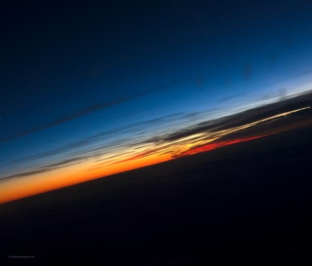 Sunset, Abstraction dans l'avion, 15 septembre 2013