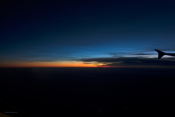 Sunset, Abstraction dans l'avion, 15 septembre 2013