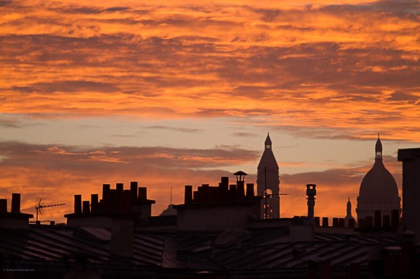 Lever de soleil sur le Sacré Coeur Paris 16 oct. 2013