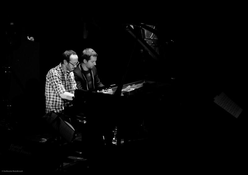Yaron Herman & Bertrand Chamayou à quatre mains @Yaron Herman Quartet Live @Le Trianon 13 octobre 2013 (c) GB