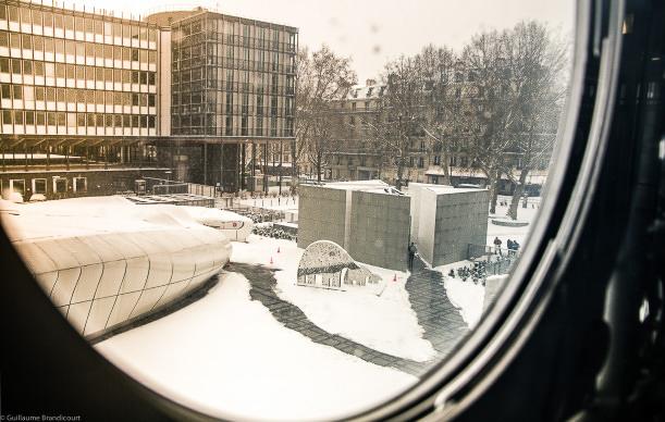 Institut du Monde Arabe, 20 janvier 2013 (vue sur