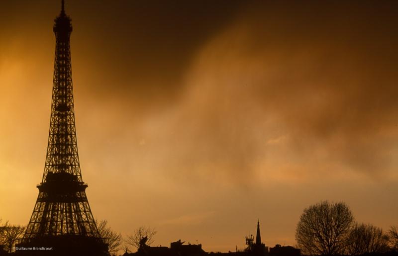 Tour Eiffel après la tempête 8 février 2014