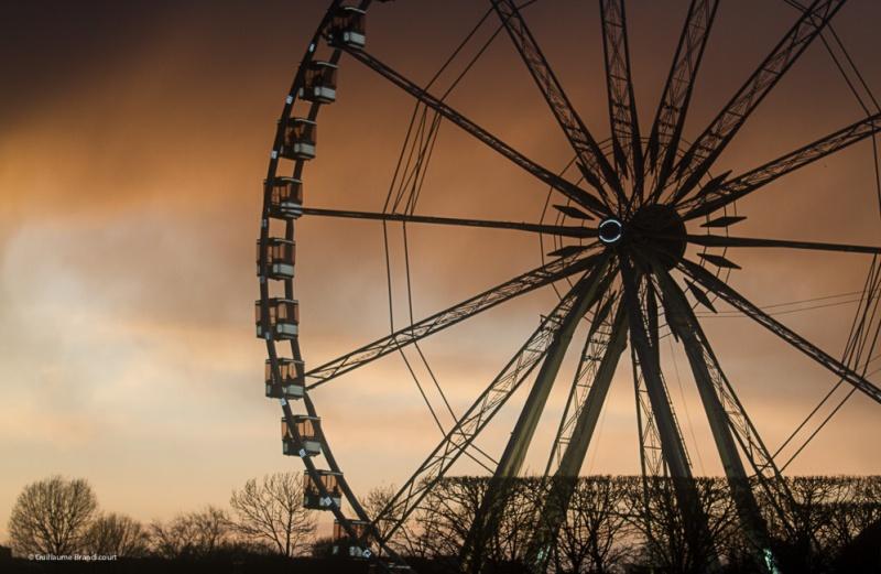 La grande roue de la Concorde après la tempête 8 février 2014