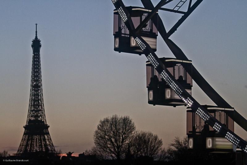 Tour Eiffel et grande roue de la Concorde après la tempête 8 février 2014
