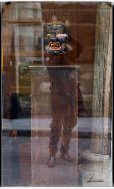 Autoportrait dansant au masque, 17 mars 2013