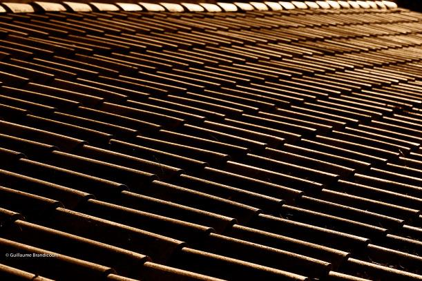 Toit provençal au couchant, août 2013