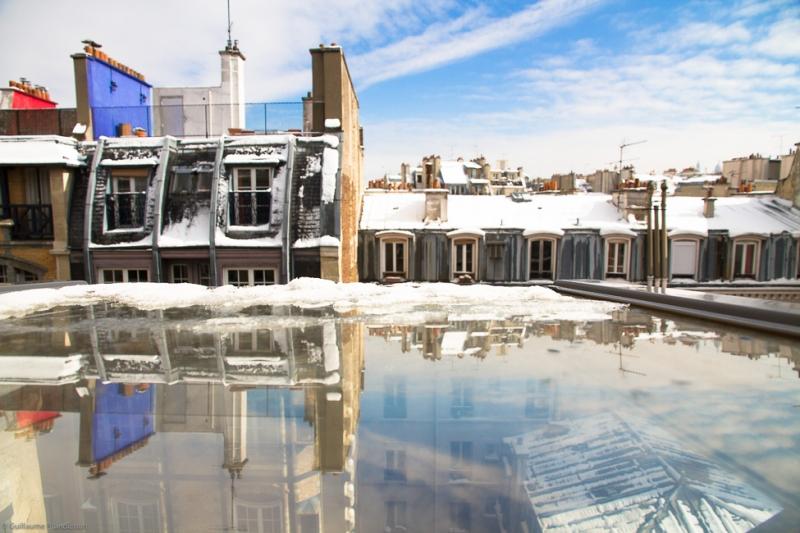 Redoux, Toits sous la neige, 13 mars 2013