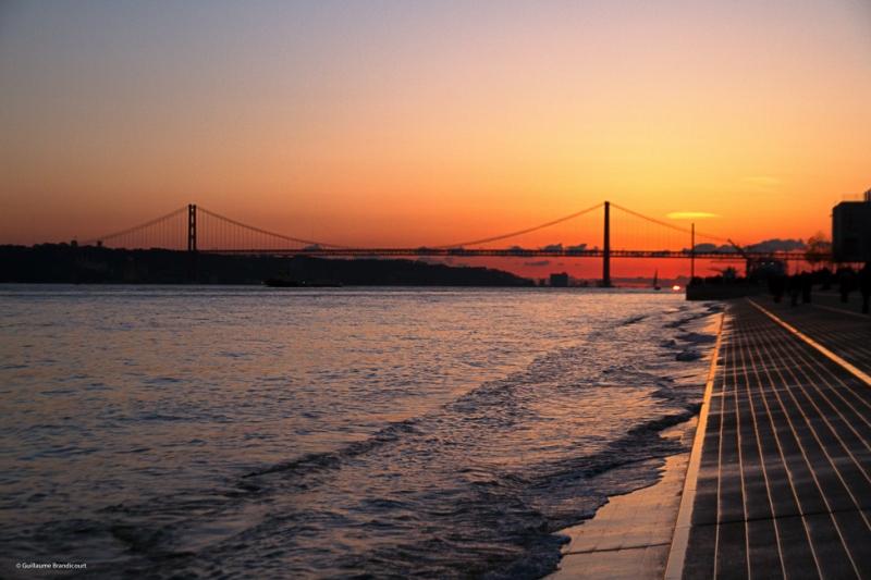 Coucher sur le Tage Lisbonne 7 février 2015