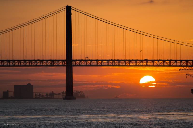 Coucher sur le Tage Lisbonne 9 février 2015